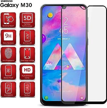 Protector de pantalla de cristal templado para Samsung Galaxy M30 ...