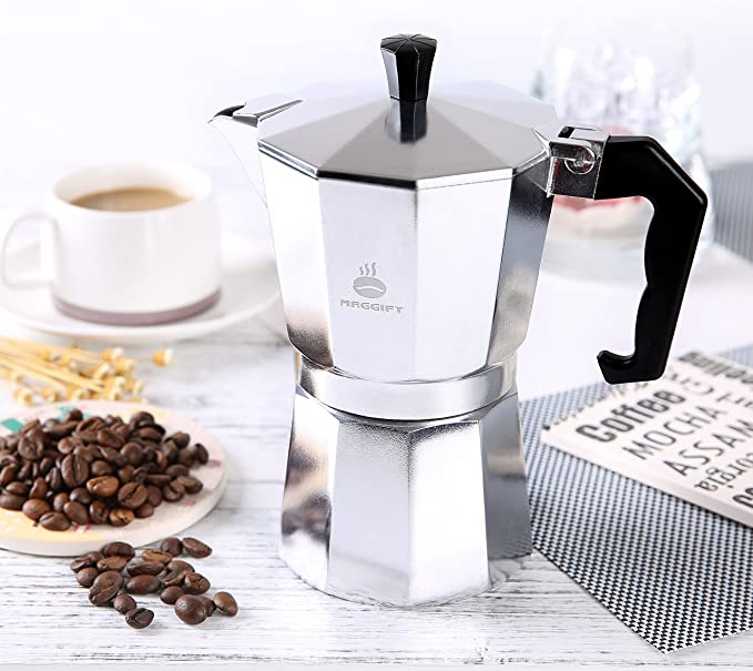 Amazon.com: Maggift - Cafetera italiana de aluminio: Kitchen ...