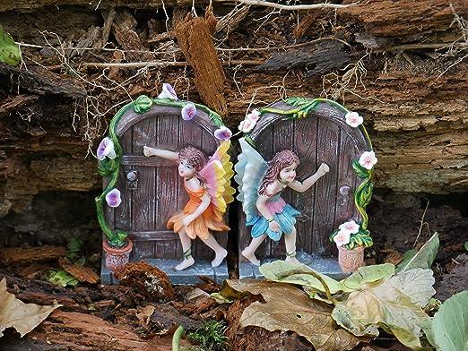 garden mile Miniatura Destellos JARDÍN DE Hadas Puerta Hada DECORACIÓN ÁRBOL JARDÍN CASA Adorno: Amazon.es: Jardín