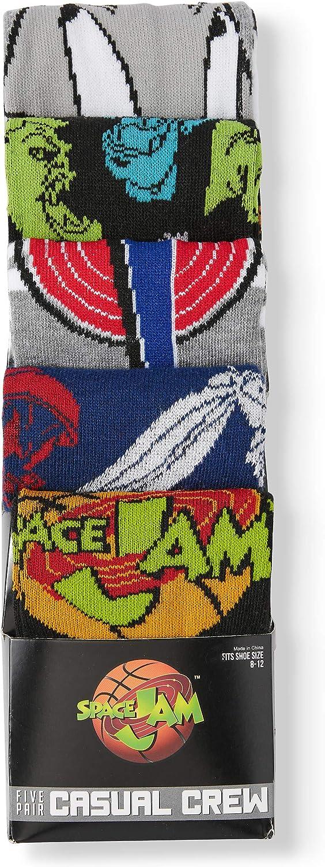 Space Jam Socks 5-Pack Casual Crew Socks for Men