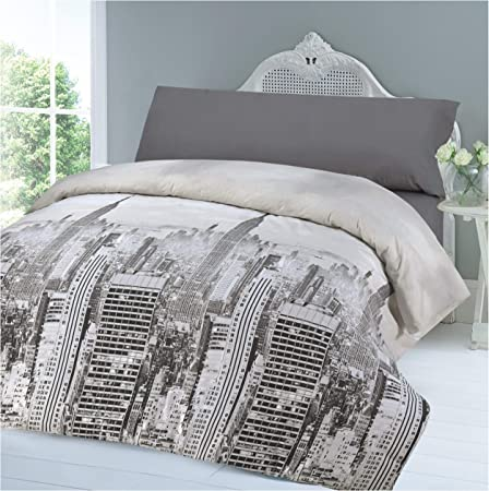 COTTON ART Funda Nordica City Life Reversible Cama de 150-50% ALGODÓN - 50% POLIÉSTER.: Amazon.es: Hogar