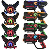 Infrared Laser Tag Guns and Vests - Laser Battle Mega Pack Set of 4 - Infrared 0.9mW