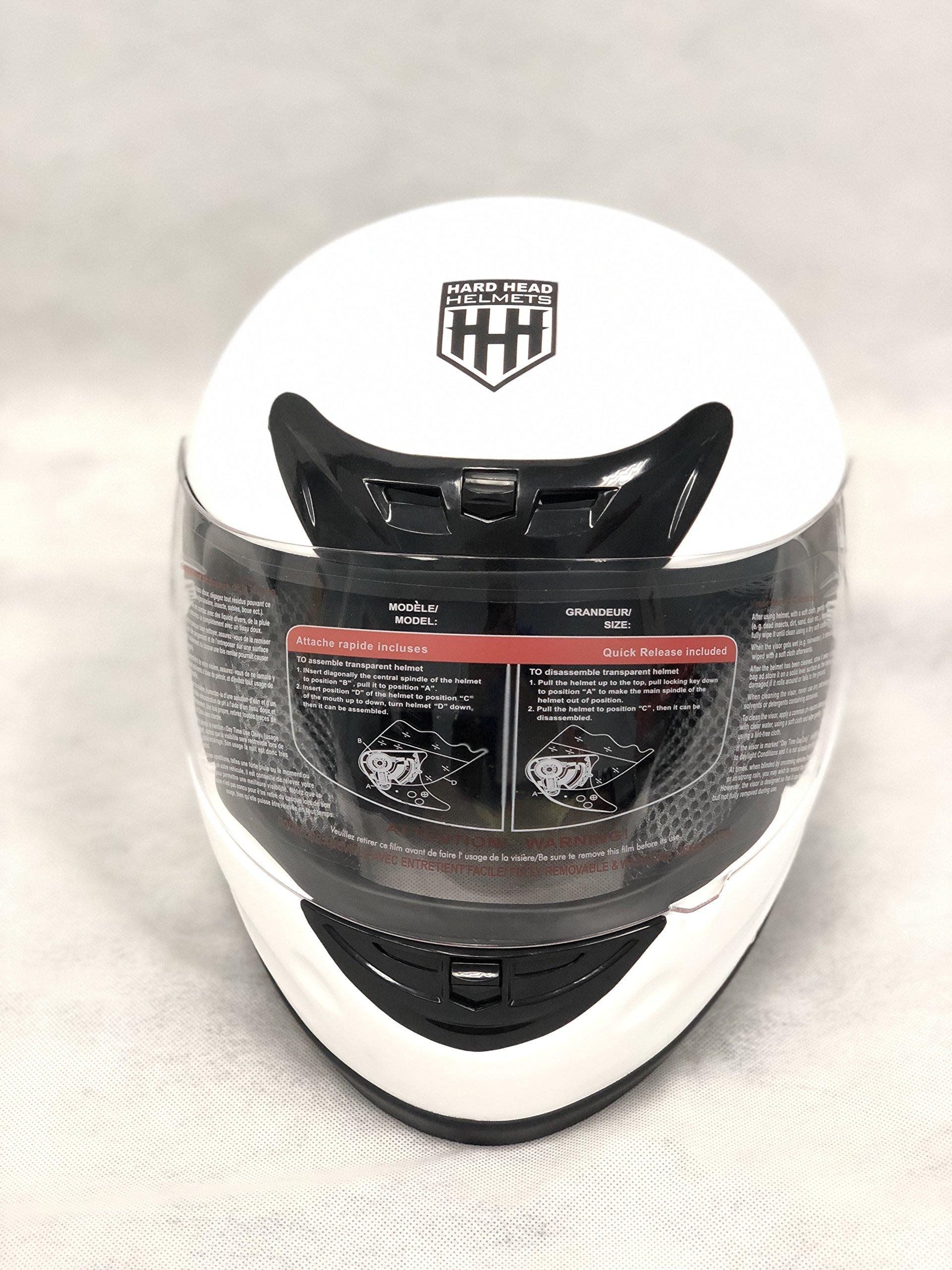 Hard Head Helmets Full Face Helmet DOT Approved for Street Bike, Motorcycle, Chopper, UTV, ATV, Dirtbike & Go-kart (Small, Matte Black)