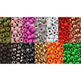 "25 x BRASS beads 3,2 mm 1/8"" (0,1g) CHOICE OF COLORS for fly tying"