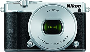 Nikon 1 J5 Mirrorless Digital Camera w/ 10 30mm PD Zoom Lens  Silver  Point   Shoot Digital Cameras