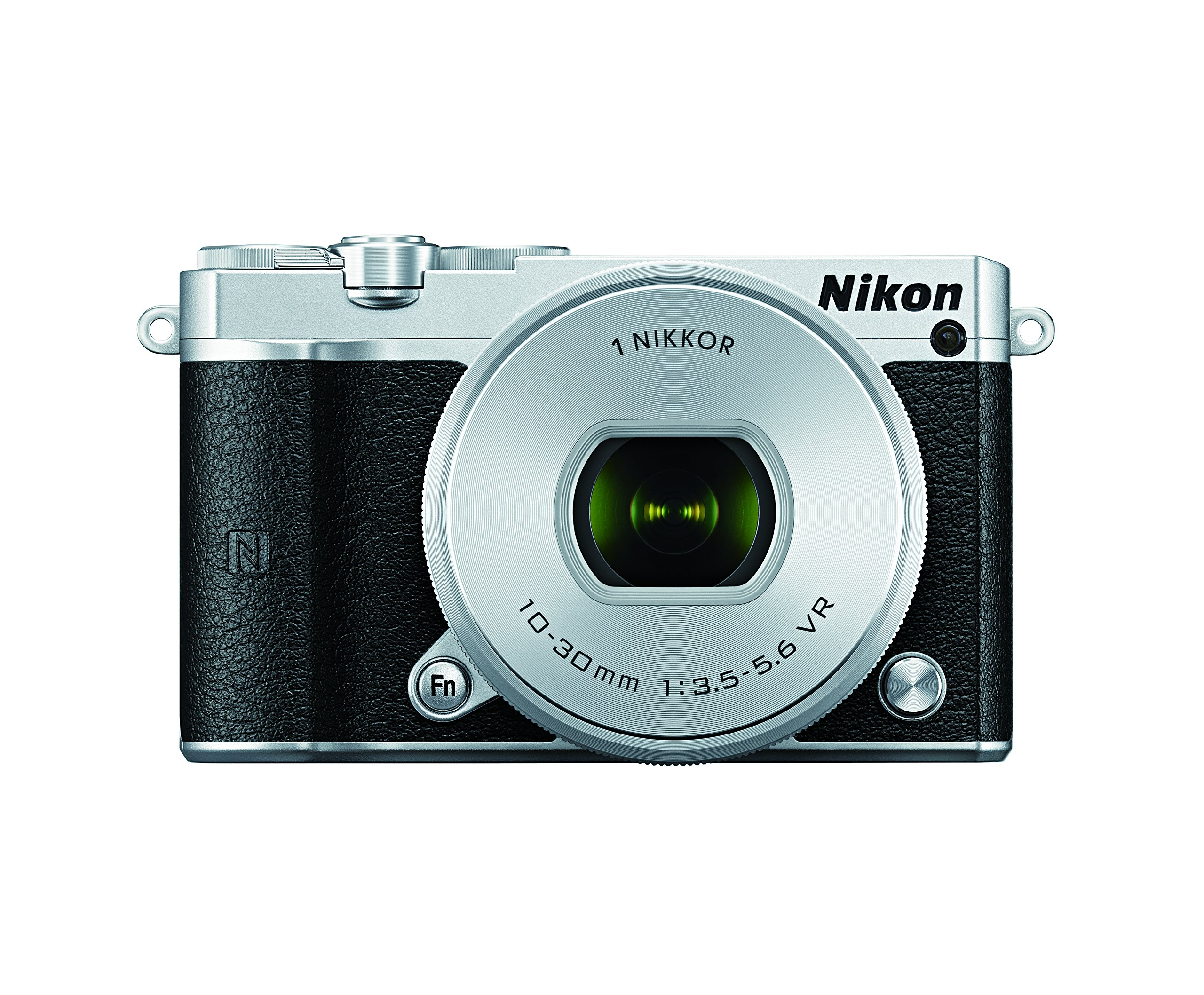 Nikon 1 J5 Mirrorless Digital Camera w/ 10-30mm PD-ZOOM Lens (Silver) by Nikon