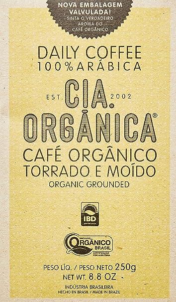 Café Cia Orgânica Daily Orgânico Torrado e Moído 250g