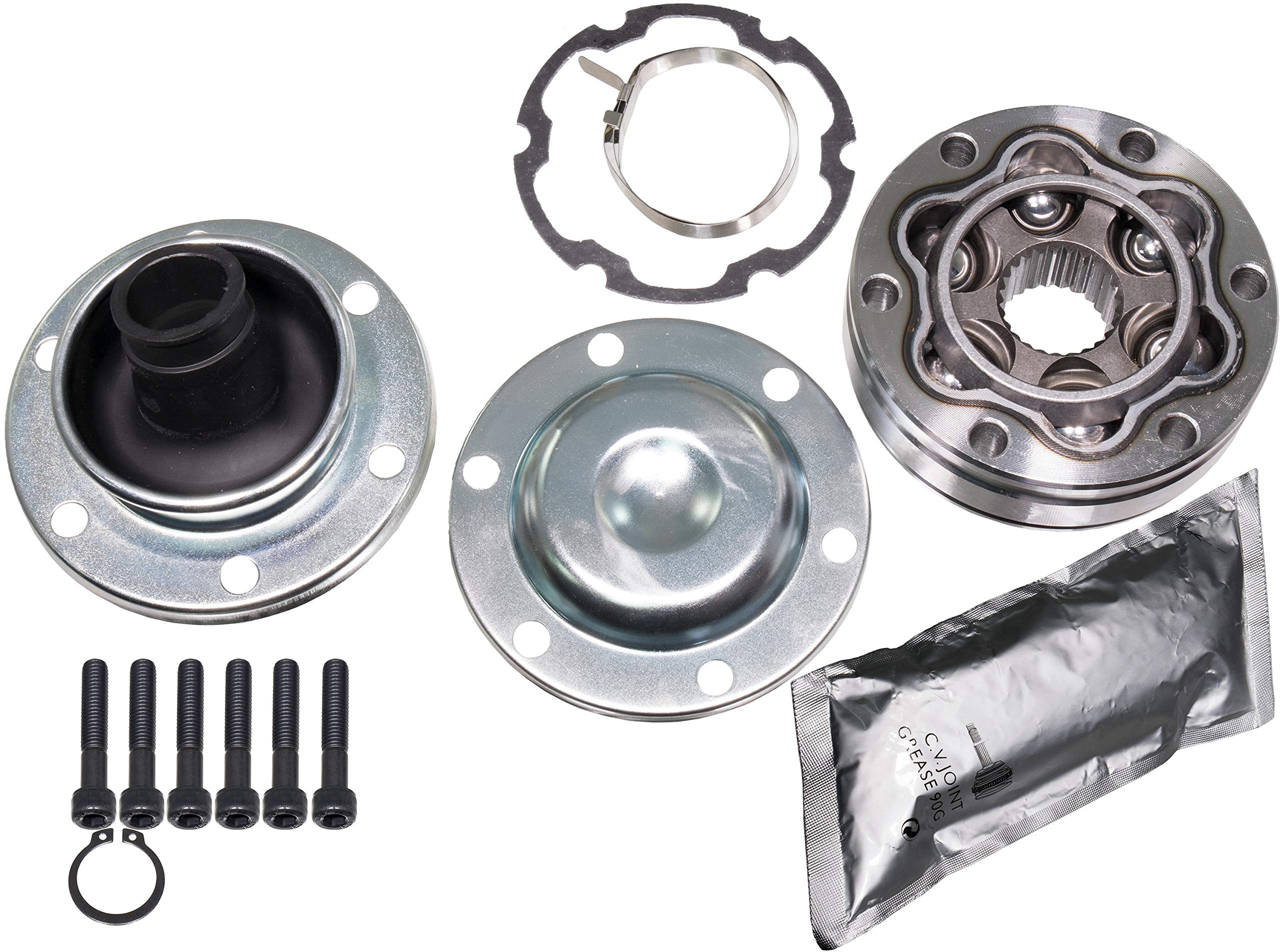 APDTY 043412 Diveshaft CV Joint & Boot Kit Fits Rear Of Front Driveshaft On 1999-2004 Jeep Grand Cherokee 2002-2007 Liberty (Front Drive-Shaft Propeller-Shaft Rear Joint) by APDTY (Image #1)