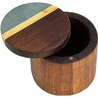 Totally Bamboo Rock & Branch Series Slate and Acacia Salt & Storage Box