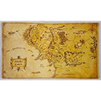 Lord of the Rings Middle Earth Map TCG playmat, gamemat 60cm wide 36cm tall
