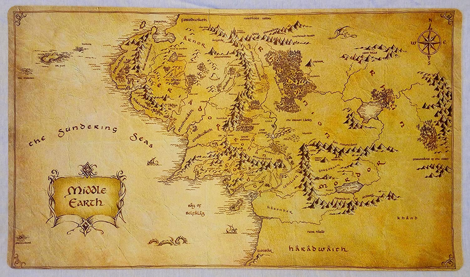 Jrr Tolkien S Annotated Middle Earth Map On Show At Bodleian Bbc