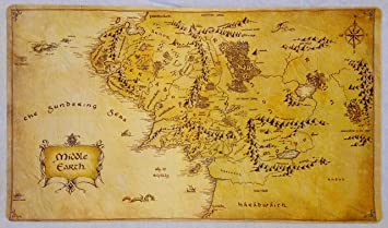 Amazoncom Lord of the Rings Middle Earth Map LOTR TCG playmat