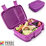 Bentgo Fresh (Purple) – Leak-Proof & Versatile 4-Compartment Bento-Style Lunch Box – Ideal for Portion-Control and Balanced Eating On-the-Go – BPA-Free and Food-Safe Materials