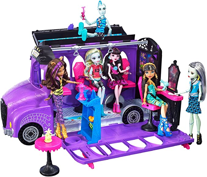 Amazon.com: MONSTER HIGH DELUXE BUS: Toys & Games