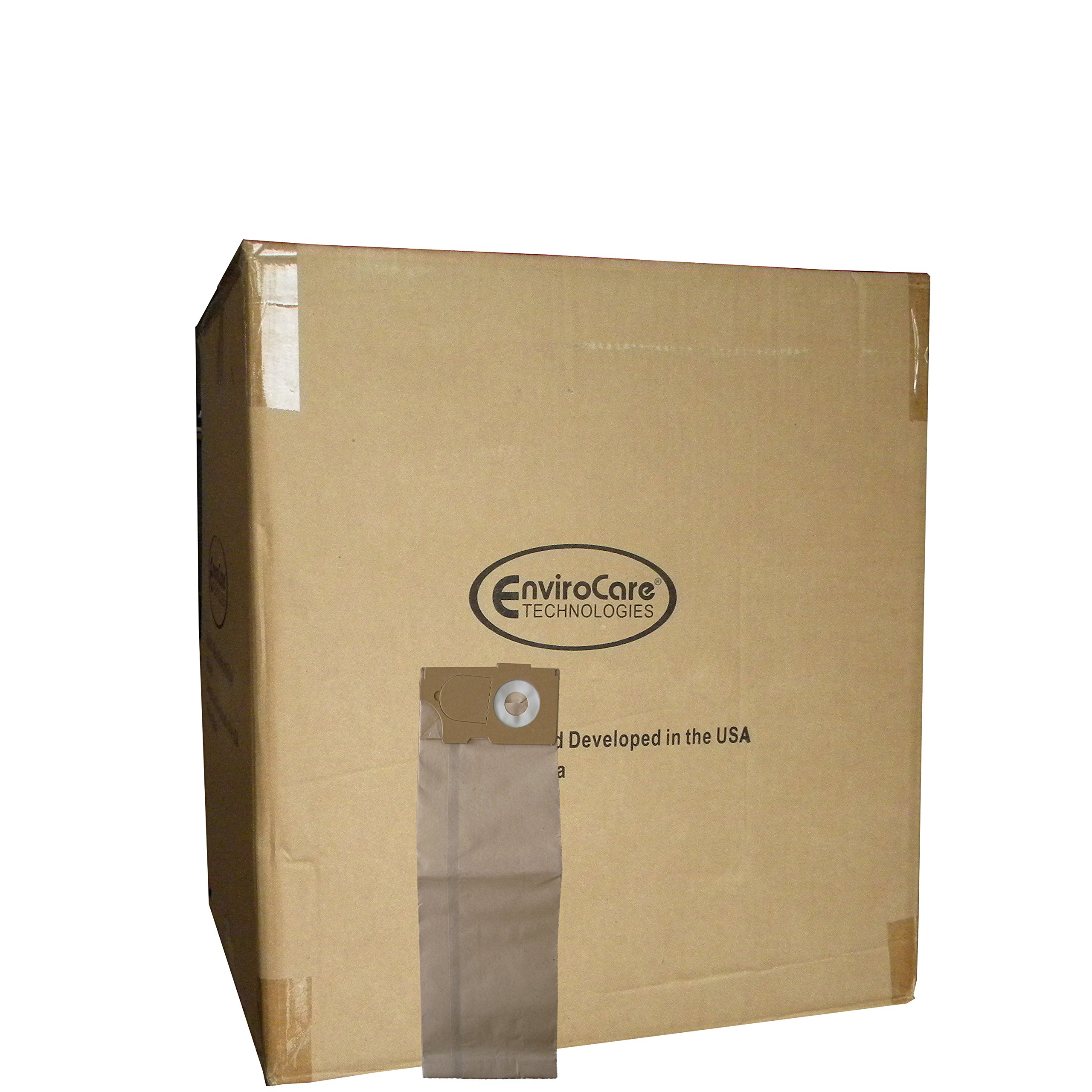 Whole Case of Windsor Versamatic, Allstar Javelin, Betco, Tornado-Karcher, NSS Marshal, and Triple S (SSS) Commercial Upright micro lined Allergy vacuum bags by EnviroCare