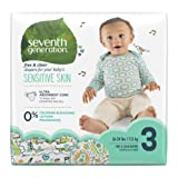 Amazon Price History for:Seventh Generation Baby Diapers, Free and Clear for Sensitive Skin, with Animal Prints, Size 3, 155 Count (Packaging May Vary)