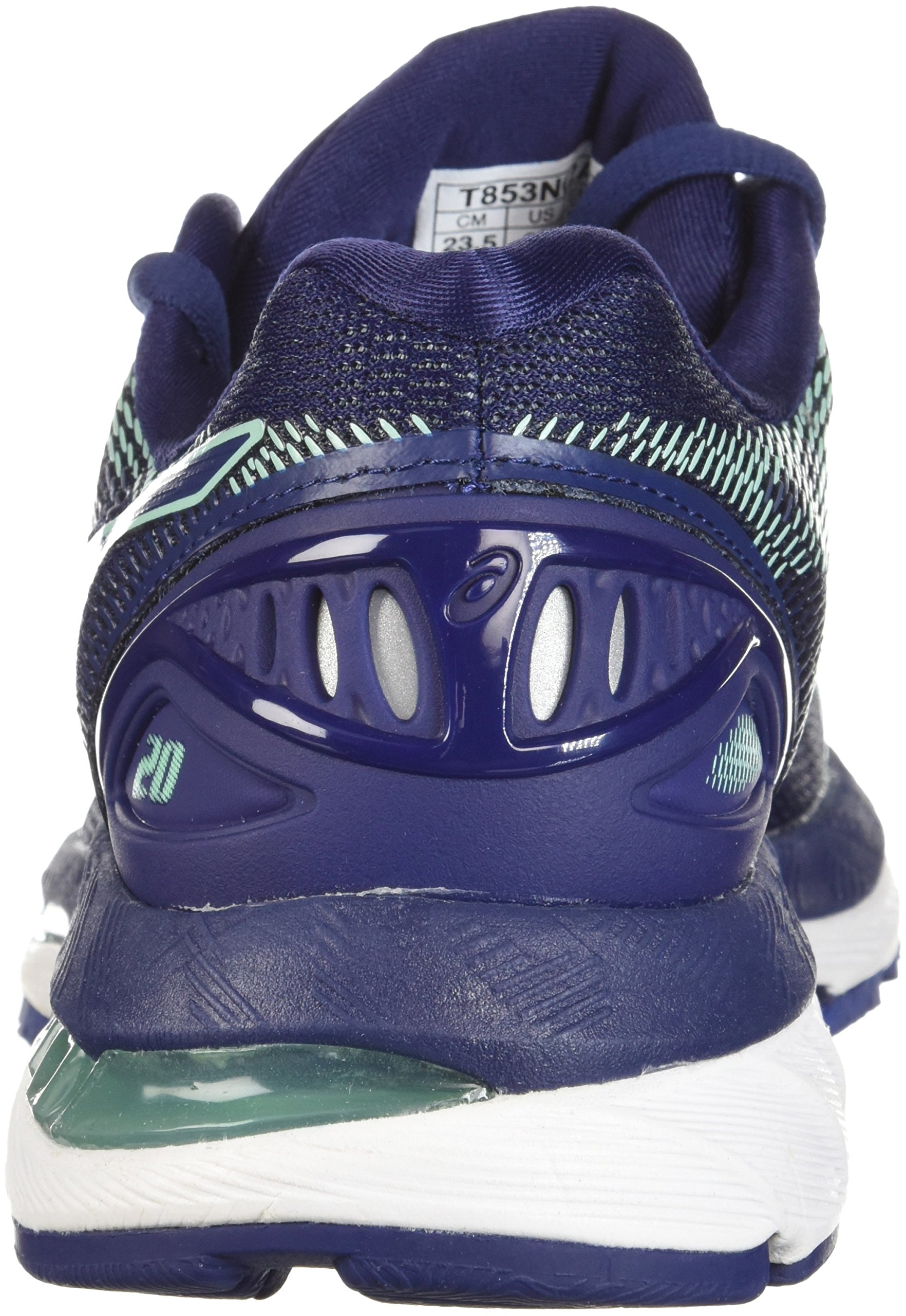 ASICS Women's Gel-Nimbus 20 Running Shoe, indigo blue/indigo blue/opal green, 12 D US by ASICS (Image #2)