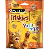 NESTLÉ PURINA FRISKIES Party Mix Petisco para Gatos Adultos Frango, Fígado e Peru 40g