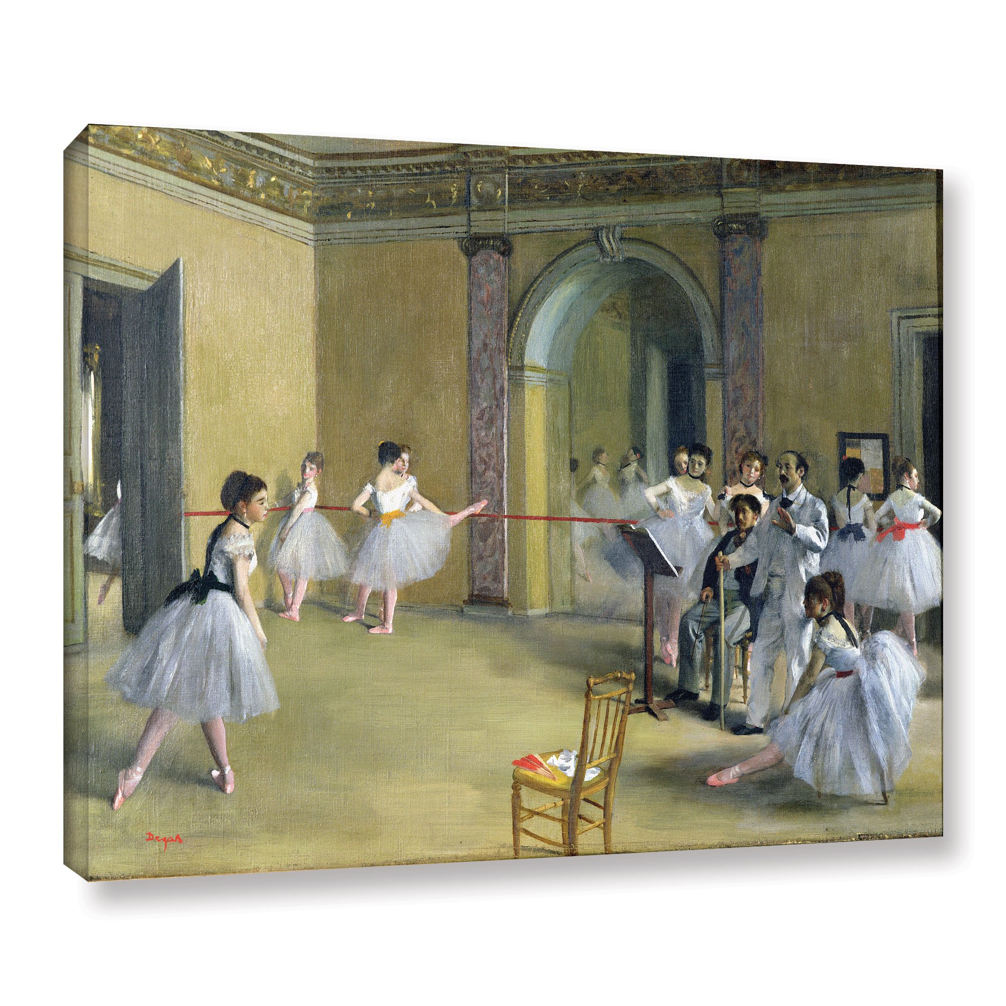 ArtWall Edgar Degas's The Dance Foyer at The Opera on The Rue Le Peletier Gallery-Wrapped Canvas, 36 x 48