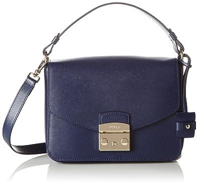 5d3a63a0a6 Furla Women s Metropolis S Shoulder Bag Shoulder Bag Blue Blau (Navy)   Amazon.co.uk  Shoes   Bags