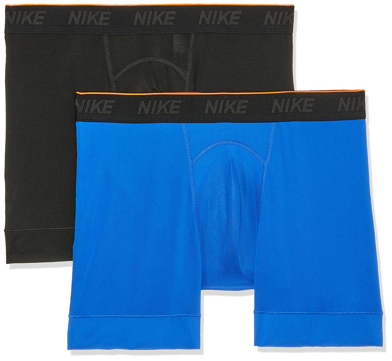 135432023 Amazon.com: NIKE Men's Training Boxer Briefs 2 Pack,(Black/Game  Royal/White,X-Large): Sports & Outdoors