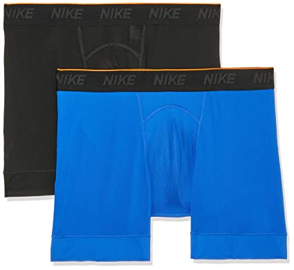 dfafb4ad Amazon.com: NIKE Men's Training Boxer Briefs 2 Pack,(Black/Game ...