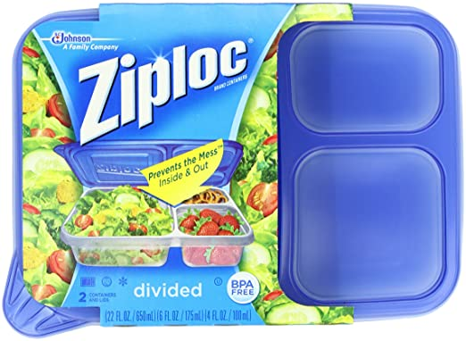 Amazon.com Ziploc Container Divided Rectangle 2-Count(Pack of 2) Health u0026 Personal Care  sc 1 st  Amazon.com & Amazon.com: Ziploc Container Divided Rectangle 2-Count(Pack of 2 ... Aboutintivar.Com