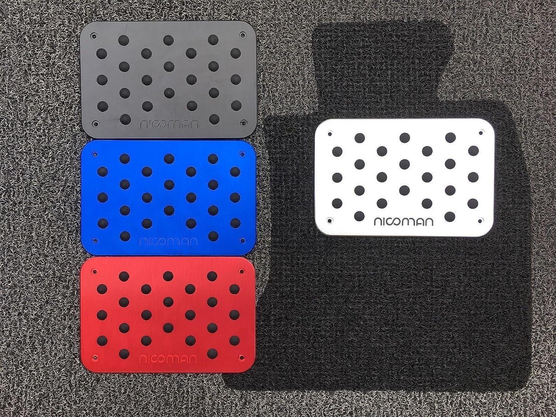 Nicoman High Performance|Metal Heel Pad|Car Foot Rest Pedal Plate|Floor Mat Carpet Cover|Anti-Slip|Sports Orange
