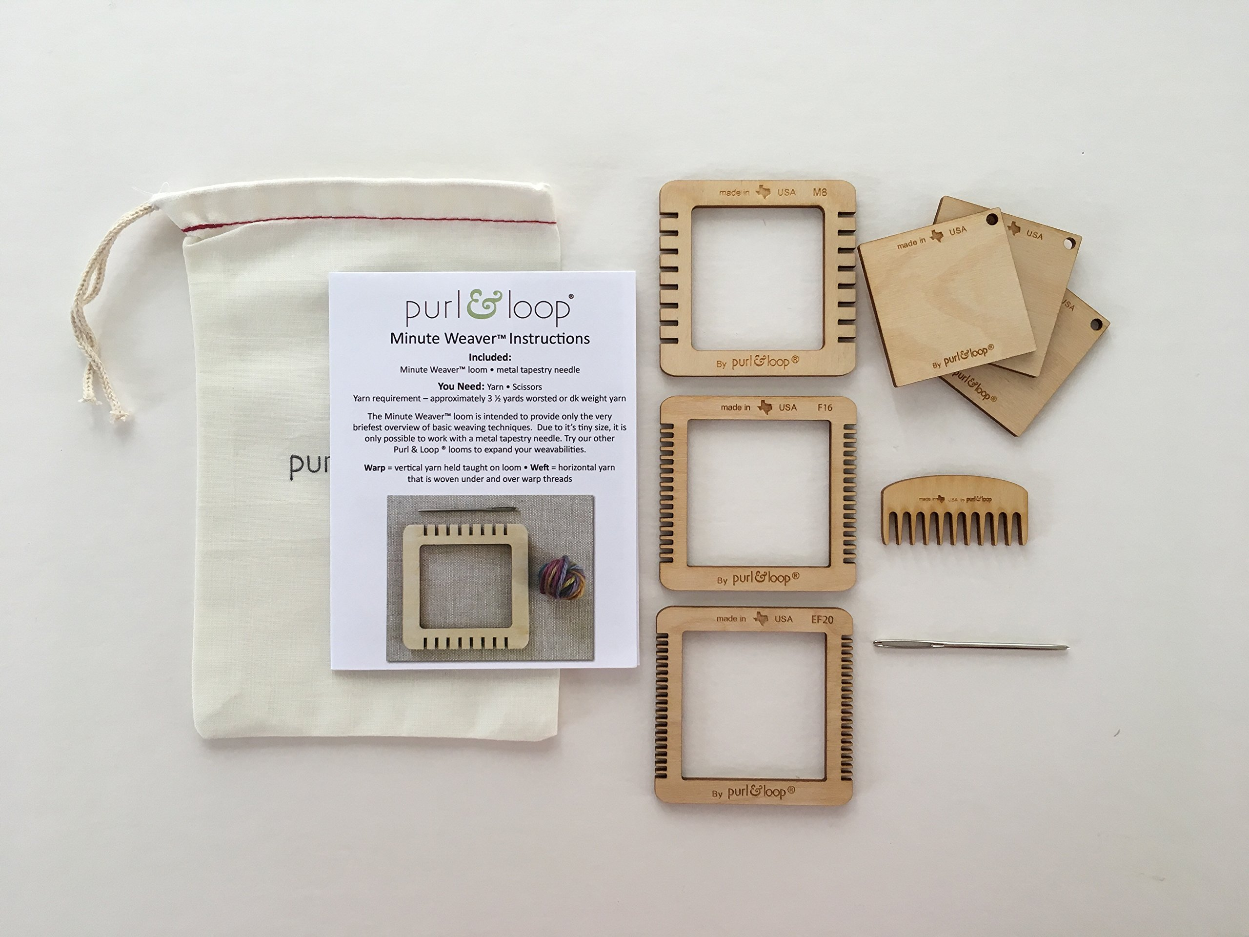 Purl & Loop Minute Weaver Loom, Set of All 3 Minute Weavers by Purl & Loop