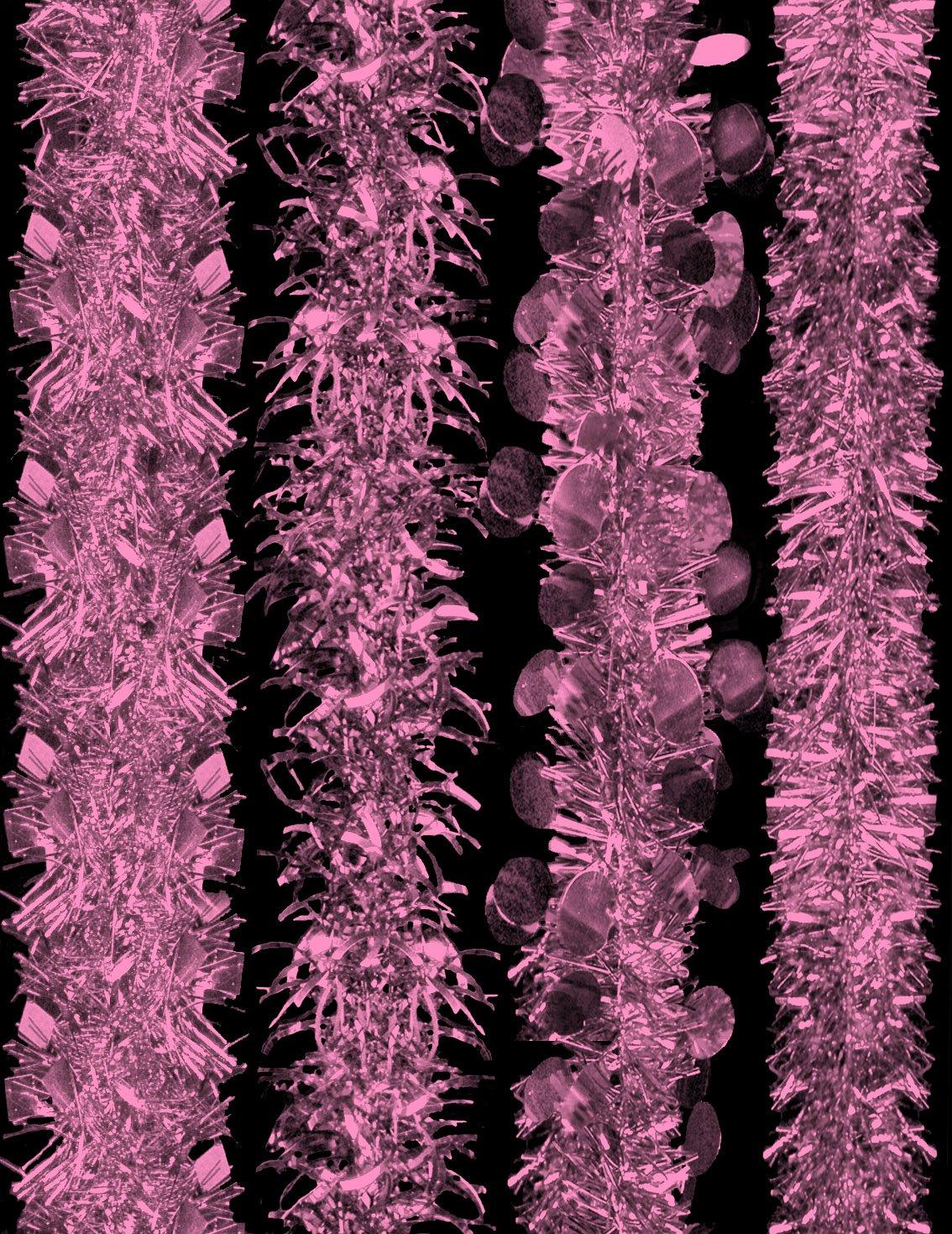 2m Blush Pink / Baby Pink5013206Tinsel - Decorated Christmas Tinsel - 4 Designs - 1 Chosen At Random. Davies Products