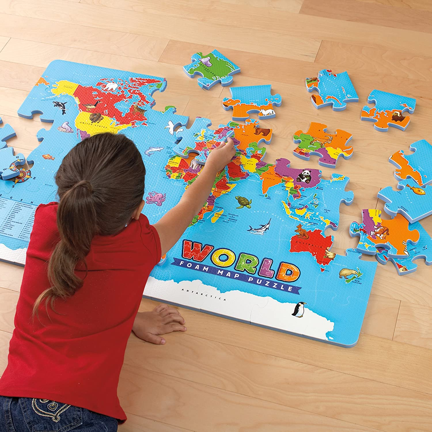 Amazon educational insights world foam map puzzle toys games gumiabroncs Image collections