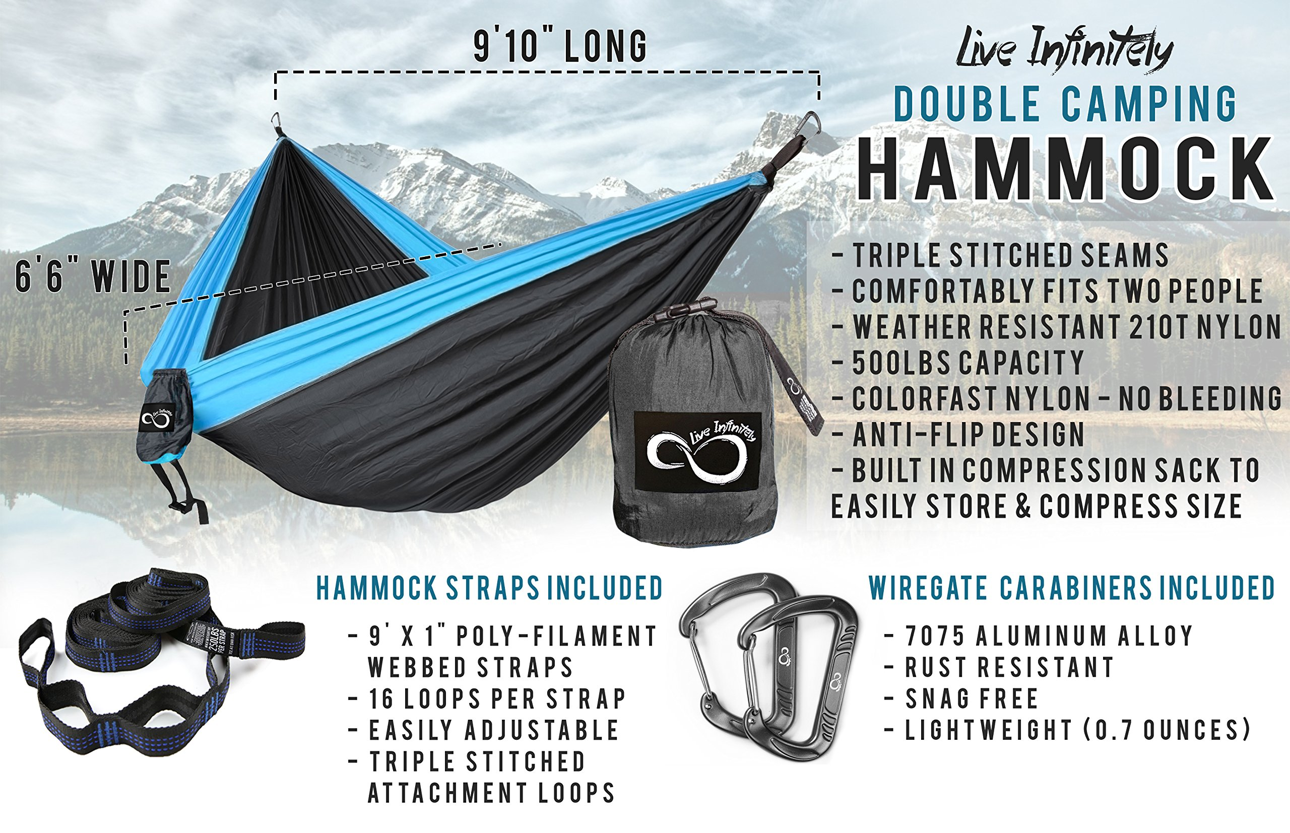 holds that products hammock double resistant water lbs parachute wide orange