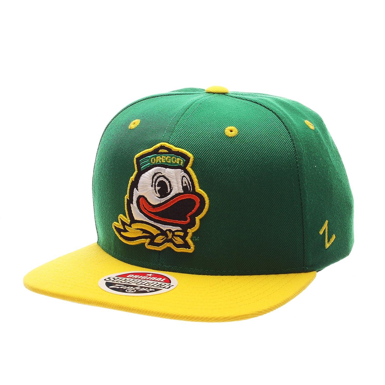 ZHATS NCAA Oregon Ducks Adult Men Z11 Snapback Hat Adjustable Team Color