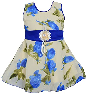 92bd995a786e MPC Cute Fashion Baby Girl s Sifon Print Frock Dress for  Amazon.in ...
