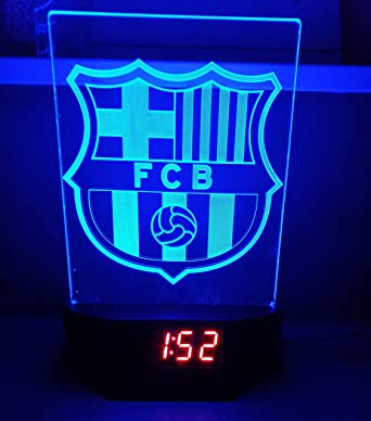 Fc Barcelona Led Table Lamp Neon Sign Barca 3d Neon With Clock And Alarm Usa Fast Delivery Amazon De Beleuchtung