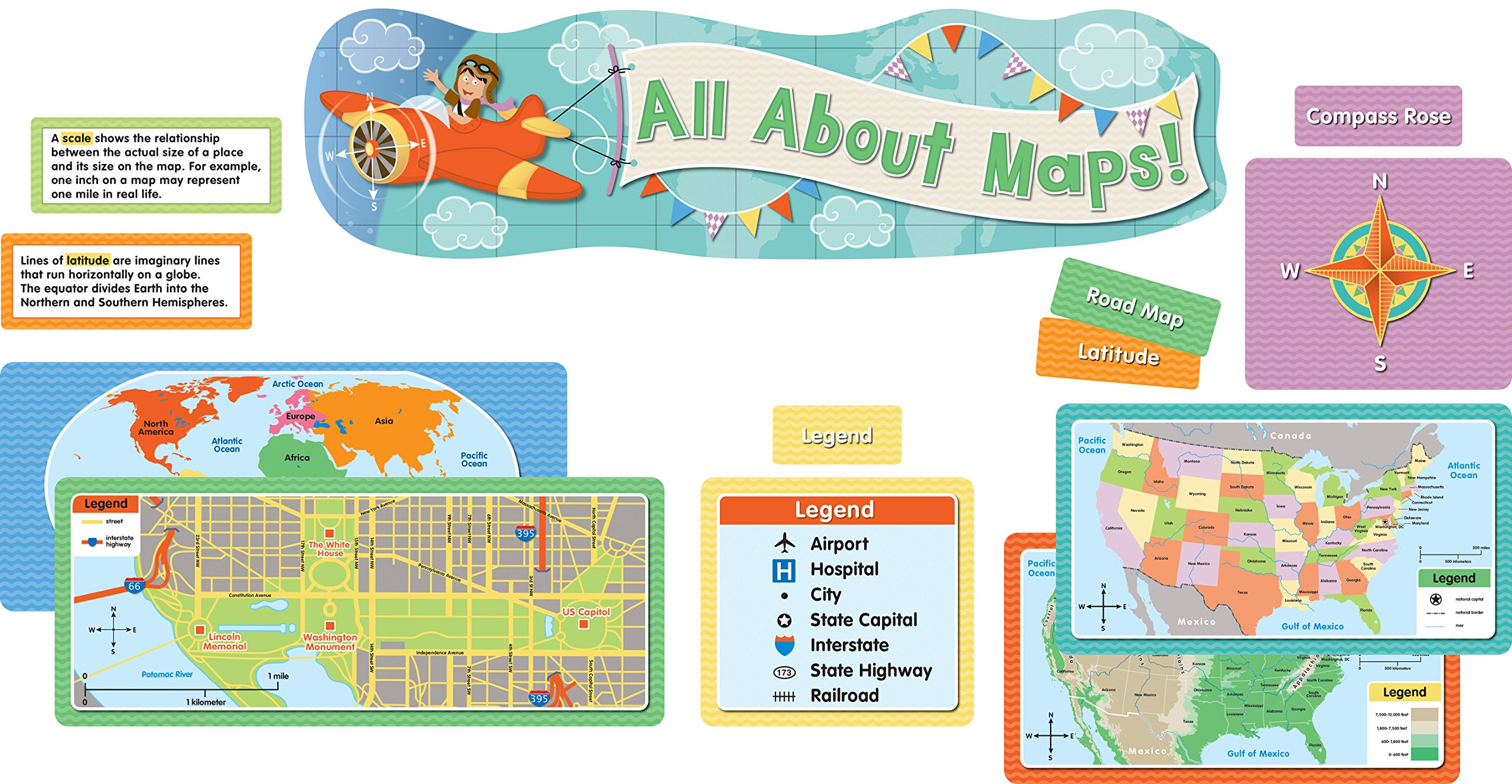 Download All About Maps Mini Bulletin Board Set ebook