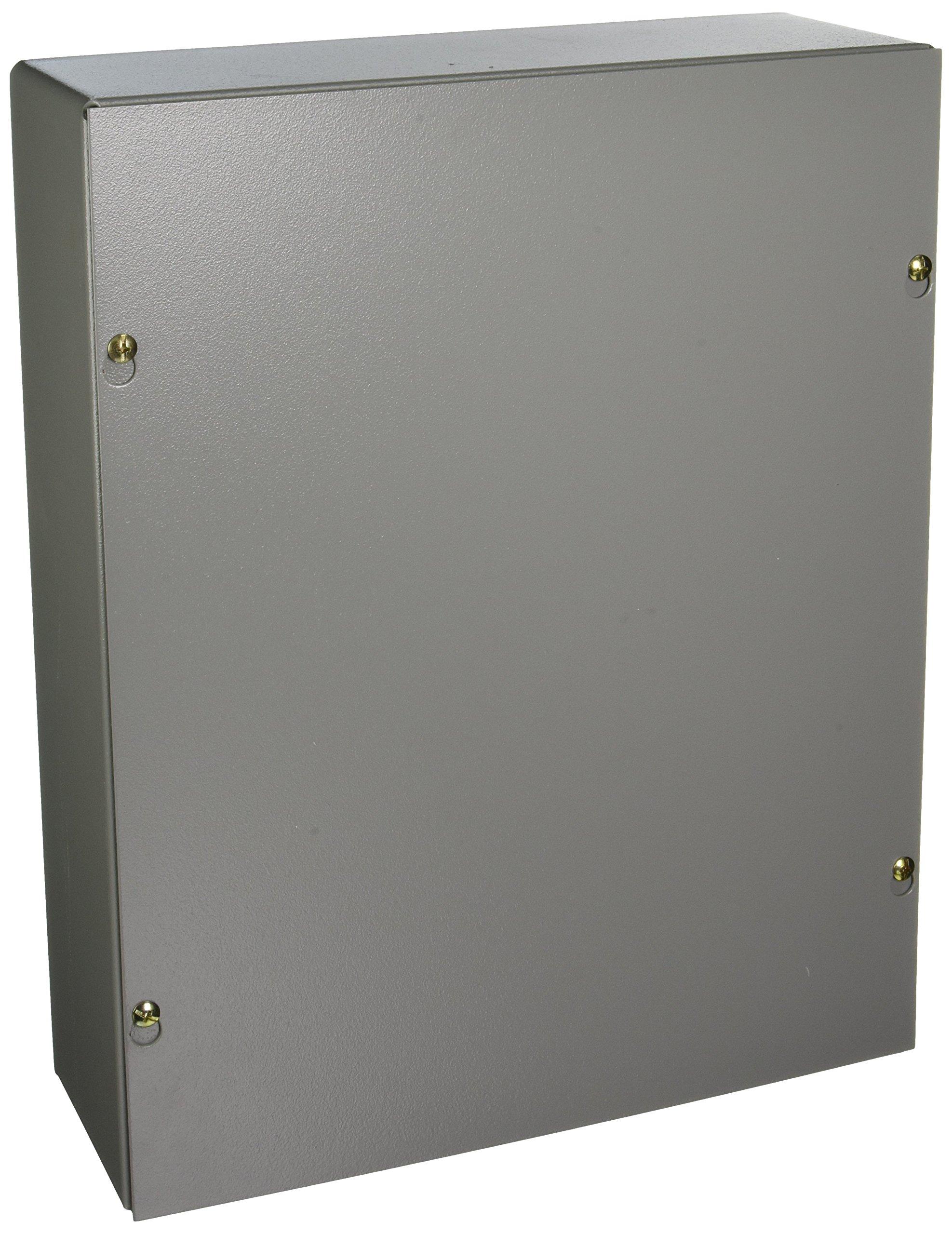 Wiegmann SC121504NK SC-Series NEMA 1 Screw Cover Wallmount Pull Box, No Knockouts, Painted Steel, 15'' x 12'' x 4''