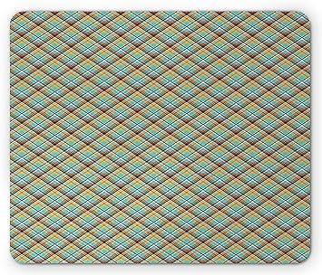 Ethnic Mouse Pad Pixel Art Inspired Geometric Diagonal