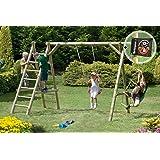 Schaukel aus Holz Classic 3.1 Schaukelgestell für Kinder im Garten