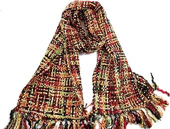 Bufanda multicolor suave para mujer, para otoño invierno