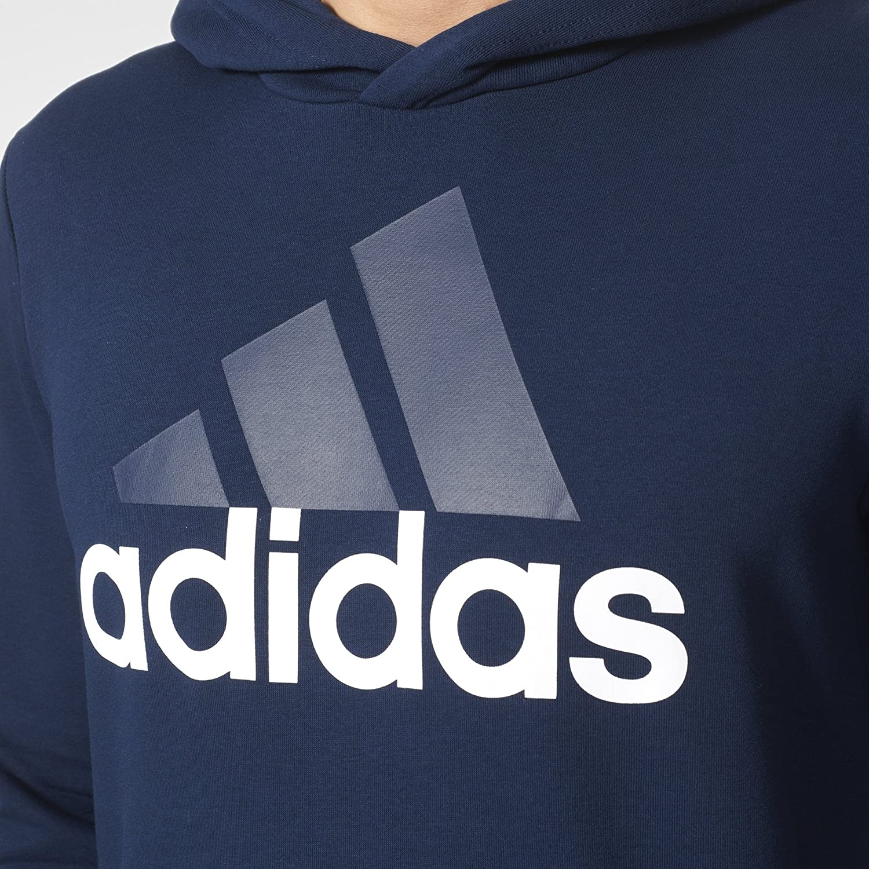 adidas Mens Essential Linear Logo Pullover Hoodie