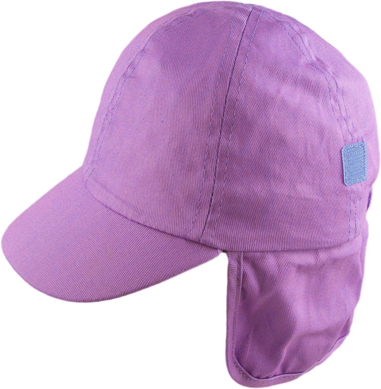 Pesci Kids Boys Girls Sun Hat Summer Legionnaire Cap with Roll Up Neck Flap
