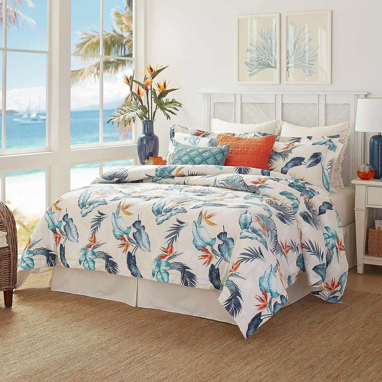 Tommy Bahama Birdseye View Comforter Set, King, Blue