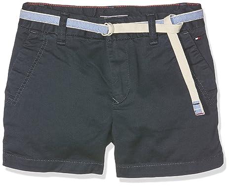 fa339acb16 Tommy Hilfiger Girl's AME Twill Short FST Blue (Navy Blazer 431), 128 cm