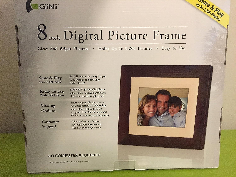 "Amazon.com : Giinii 8"" Digital LCD Photo Frame, Brown : Digital Picture  Frames : Camera & Photo"