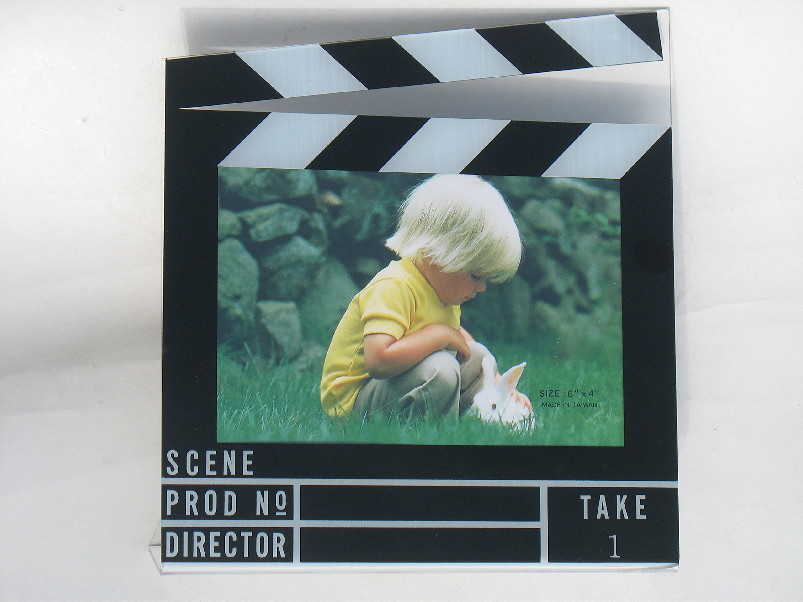 ( 4 Piece Pack ) Movie Clapboard Picture Frame 4'' x 6''