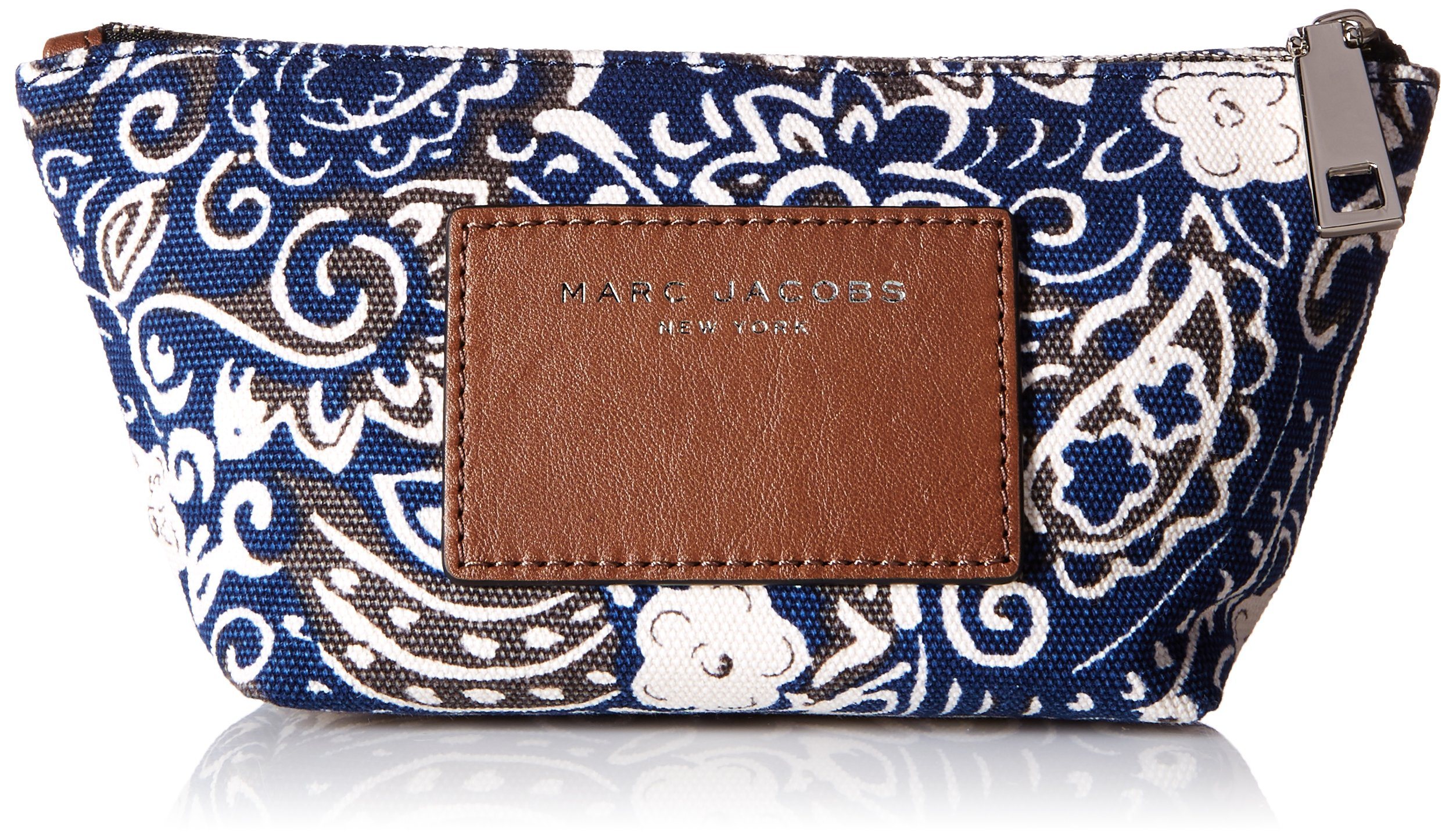 Marc Jacobs Paisley Cosmetics Small Trapezoid Accessory, Black/Multi, One Size