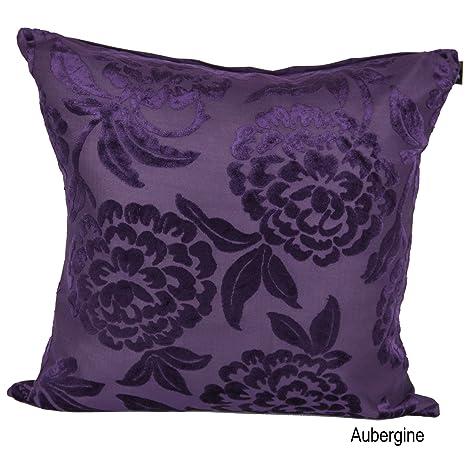 Federa per cuscino decorativo in velluto federa color melanzana ...