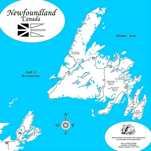 Detailed Map Of Newfoundland on