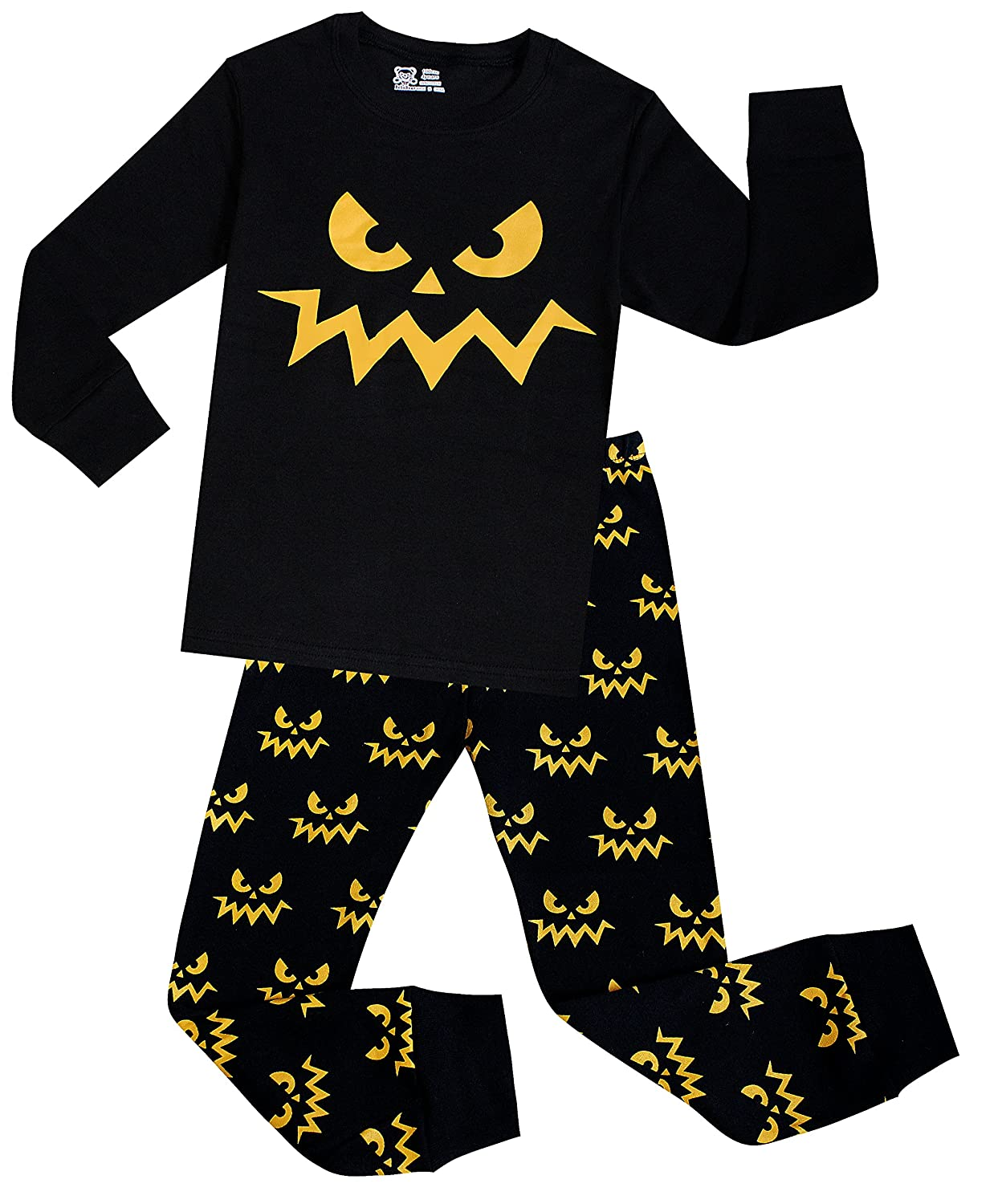 Little Boys Pirate Ship Pajamas Children Halloween and Christmas PJs 100% Cotton Sleepwear
